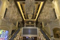 Één van de ingangen aan het Palazzo-hotel in Las Vegas Royalty-vrije Stock Foto's