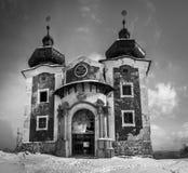 Één van de kerken in kalvaria, Banska Stiavnica royalty-vrije stock afbeelding