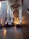 Één van de Lviv-kerk van binnenkant stock foto