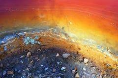 Één van de meest verontreinigde plaats in de wereld Stock Foto's