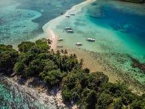 Één van de mooiste Eilanden de Filippijnen, Slangeiland stock afbeeldingen
