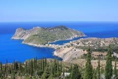 Één van de mooiste stranden in het Ionische Overzees royalty-vrije stock foto