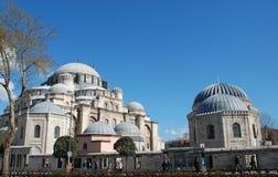 Één van de moskees in Istanboel, Turkije Royalty-vrije Stock Foto