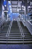 Ondergrondse moderne trap Stock Fotografie