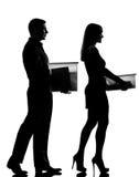 Één van de paarman en vrouw het lopen Royalty-vrije Stock Foto's