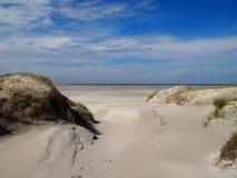 Één van de stranden van Terschelling, Nederland Stock Foto