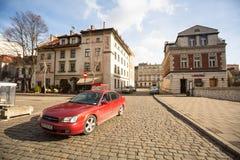Één van de straten in historisch centrum van Krakau Royalty-vrije Stock Fotografie