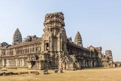 Één van de torens, Angkor Wat, Siem oogst, Kambodja Stock Foto's