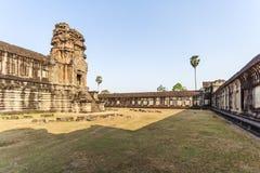 Één van de torens, Angkor Wat, Siem oogst, Kambodja Stock Afbeeldingen