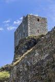 Één van de torens van het kasteel Trosky Stock Afbeeldingen