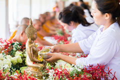Één van de tradities van noordelijk Thailand Stock Afbeeldingen