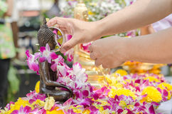 Één van de tradities van noordelijk Thailand Stock Fotografie