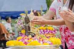 Één van de tradities van noordelijk Thailand Royalty-vrije Stock Afbeeldingen