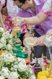 Één van de tradities van noordelijk Thailand Stock Foto's