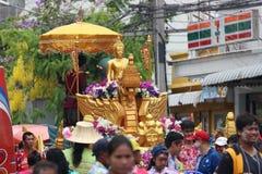 Één van de tradities van noordelijk Thailand Royalty-vrije Stock Foto