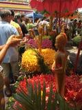 Één van de tradities van noordelijk Thailand Stock Foto