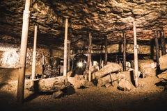 Één van de uitgravingen in een Zilveren Mijn, Bloederige Tarnowskie, Unesco-erfenisplaats Royalty-vrije Stock Afbeelding