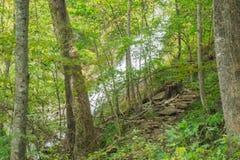 Één van de Vele Watervallen door de Crabtree-Dalingensleep royalty-vrije stock afbeeldingen