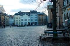 Één van de vierkanten, Kopenhagen, Denemarken Stock Foto's