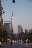 Één van de wereldhandelscentrum of Vrijheid toren Stock Afbeeldingen