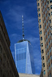 Één van de wereldhandelscentrum of Vrijheid toren Stock Foto