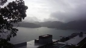 ??n van het grootste meer in het eiland van Formosa stock foto's