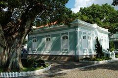 Één van het koloniale huis in het huis-Museum in eiland Taipa Royalty-vrije Stock Foto