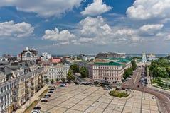 Één van het oudste vierkant in het vierkant van Kiev - van Sofia Royalty-vrije Stock Foto's