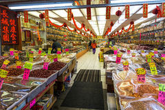 Één van markten bij de stad van China van Vancouver royalty-vrije stock afbeeldingen