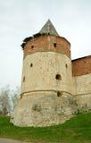 Één van torens van Zaraysk het Kremlin Stock Afbeelding