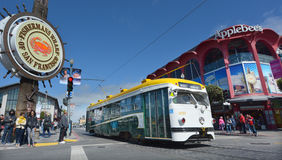 Één van trams van PCC van San Francisco de originele in Visser Mark Royalty-vrije Stock Foto
