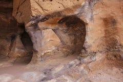 Één van vele verbazende regenboog-gekleurde holten van graven en holen stock foto