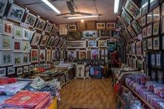 Één van zes zuidelijke stad Xitang - De decoratie van de goederenwinkel Stock Afbeeldingen