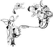 Één vleugelengel, royalty-vrije illustratie