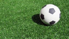 Één voetbal op gras Royalty-vrije Stock Foto