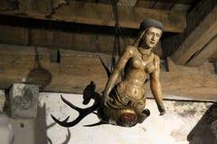 Één voorbeeld van kunstwerk in historisch Bunratty-Kasteel, Provincie Clare, Ierland, Oktober 2014 Stock Afbeeldingen