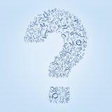 Één vraag, vele antwoorden vector illustratie