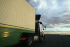 Één vrachtwagen het overvallen Stock Foto
