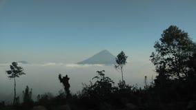 Één Vulkaan stock foto