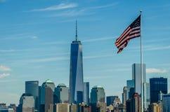 Één wereldhandelscentrum in New York Royalty-vrije Stock Afbeeldingen