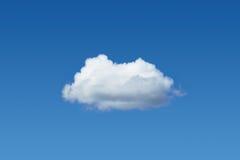 Één wolk onder blauwe hemel Stock Afbeelding