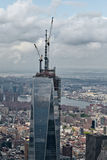 Één World Trade Center in aanbouw Royalty-vrije Stock Foto's