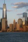 Één World Trade Center (1WTC), Freedom Tower kwam in de Stadshorizon van New York voor, de Stad van New York, New York, de V.S. Royalty-vrije Stock Foto's