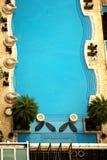 Één zwembad van Silversea Stock Foto's