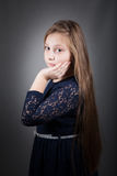 10 éénjarigenmeisje Royalty-vrije Stock Foto's