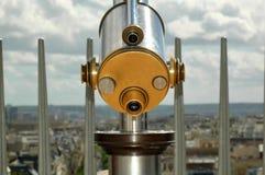 Éénogige telescoopclose-up stock fotografie