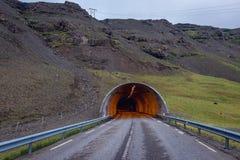 隧道在冰岛 免版税库存图片