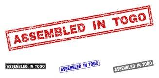 难看的东西在多哥聚集抓了长方形邮票封印 皇族释放例证