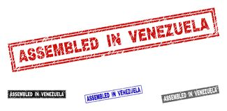 难看的东西在委内瑞拉聚集抓了长方形水印 皇族释放例证