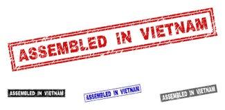 难看的东西在越南聚集抓了长方形邮票封印 库存例证